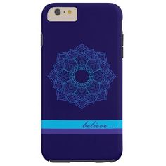 Zen Teal and Purple Mandala Believe iPhone6 Case Tough iPhone 6 Plus Case