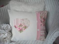 Pink Fabric Patchwork, very pretty Shabby Chic Cushions, Shabby Chic Desk, Cute Cushions, Shabby Chic Interiors, Shabby Chic Crafts, Shabby Chic Homes, Shabby Chic Furniture, Country Furniture, Distressed Furniture