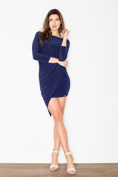Navy Blue Figl Dresses