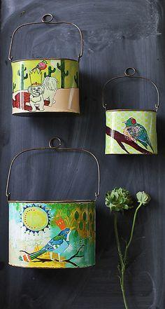 Jessica Swift for Creative Co-op // bucket tin set
