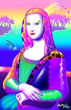 Mona Lisa, in the style of Lisa Frank. If you were a girl in the early chances are, you owned something that was designed by Lisa Frank, knew someo. Lisa Frank, Lisa Lisa, Pop Art, Paul Gauguin, La Madone, Mona Lisa Parody, Mona Lisa Smile, Grunge, Monalisa