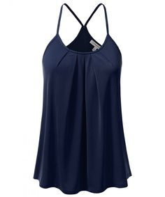 Womens Casual Front Pleated Cami Tank Top - - - Womens Casual Front Pleated Cami Tank Top – – – Women's Clothing, Tops & Tees, Tanks & Camis # Source by gaspardsoulby - Sleeveless Tunic Tops, Funny Tank Tops, Black Tank Tops, Casual Tops, Clothes For Women, Cami, Fashion Women, Style Fashion, Fashion Ideas