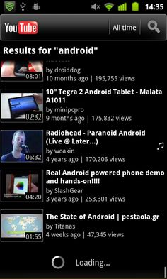 Android:  YouTube