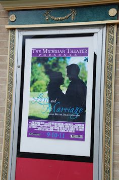 Wedding posters at Michigan Theater in Ann Arbor