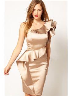 Graceful Pure Color Falbala Women's Evening Dress Little Party Dress- ericdress.com 10782379