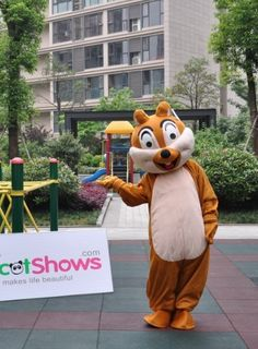 Free Disney Chip N Dale Chipmunk Disney Winnie Mascot Costume help. Ask your Disney Costume and Accessory questions at http://www.hallowmascots.com/