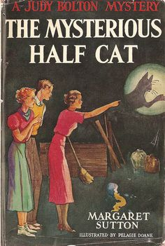 Judy Bolton mysteries! I loved them, but this particular one really creeped me out. I think maybe ours were hand-me-downs, from the 1940s.