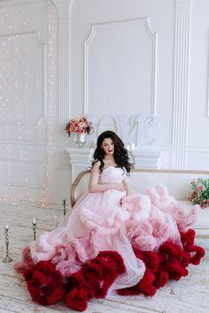 Платье облако Градиент