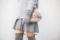 Fall Outift Stuart Weitzman Over the knee boots Bag Charm Balmuir Chloe drew bag