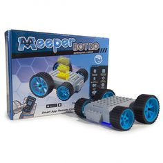 The boys would love this!! What's meeperBOT? - It's a studded platform that's powered by two motors and controlled by the meeperBOT Controller App on your smartphone or tablet. What does it do? - It turns your interlocking brick construction kits and creations into movable masterpieces!