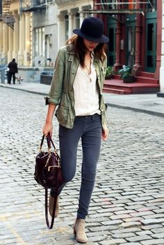 15 Le Fashion Blog 15 Ways To Wear A Green Army Jacket Hat Button Down Shirt Skinny Jeans Boots Via Natalie Off Duty photo 15-Le-Fashion-Blog-15-Ways-To-Wear-A-Green-Army-Jacket-Hat-Button-Down-Shirt-Skinny-Jeans-Boots-Via-Natalie-Off-Duty.jpg