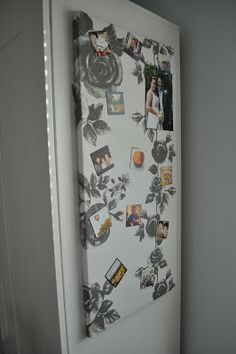how to cover and hang ikea magnet board with 3m command strips