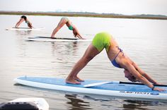 """I've never gone paddleboarding but what balance these yogis must have to do such beautiful """"down face dogs"""" on a paddleboard! Outdoor Fitness, Outdoor Yoga, Visit Savannah, Savannah Chat, Start Yoga, 365 Day Challenge, No Boys Allowed, Morning Start, What Is Hot"""