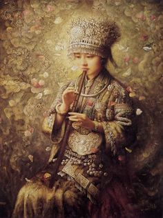 Zhao Chun 1970 | China | Tutt'Art@ | Pittura * Scultura * Poesia * Musica | Art Chinois, Shenyang, Feminine Mystique, Portraits, China Art, Chinese Painting, Illustrations, Art Music, Beautiful Paintings