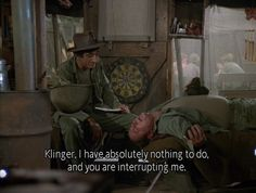 Klinger and Maj. Winchester