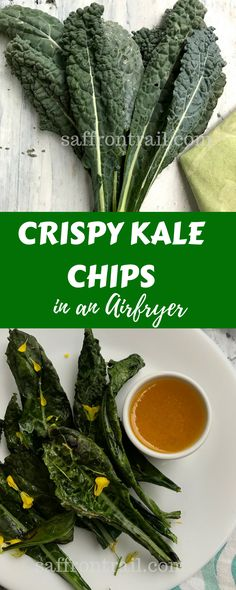An easy recipe for preparing crispy Kale chips in under 10 minutes in the Air fryer. Also includes instructions on how to bake these chips in a convection oven. The post also answers some of your questions about kale.