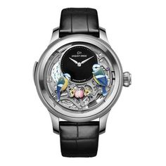 Buy Jaquet Droz Les Ateliers D'Art The Bird Repeater Openwork Watches, authentic at discount prices. Complete selection of Luxury Brands. All current Jaquet Droz styles available. Fine Watches, Cool Watches, Watches For Men, Men's Watches, Unique Watches, Wrist Watches, Fashion Watches, Atelier D Art, Silver Pocket Watch