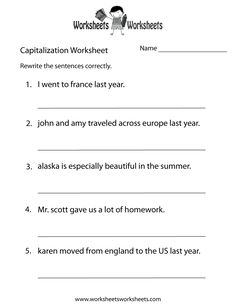 Printables Capitalization Practice Worksheets capitalization worksheet 2 ela literacy l 4 2a language easily print our english grammar directly in your browser it is a free printable practice