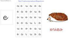 http://mistrucosparaeducar.blogspot.com.es/2013/03/sopas-de-letras-vocales.html  Busca la letra e, rodeala, pintala, repasala, ...