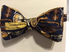 Bow Tie with Gold Musical Instruments by ReiserCreations on Etsy