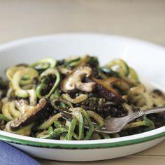 Zucchini Noodles with Pistachio Pesto and Black Lentils