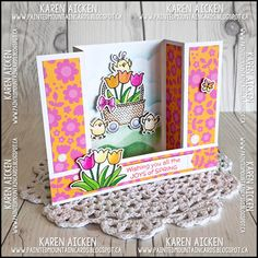 Happily playing with paper, stamps and dies . paper creations by Karen Aicken Bridge Card, Shaped Cards, 3d Cards, Mountain Paintings, Fall Cards, Handmade Cards, Cardmaking, Stamping, Card Ideas