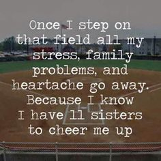 Softball is my entire life I play it with all my very very very good friends