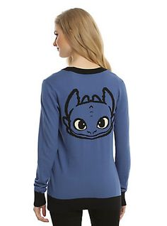 How To Train Your Dragon Toothless Girls Cardigan, NAVY
