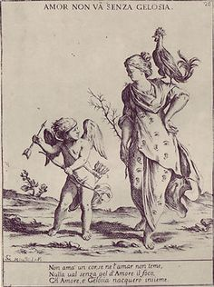 Etching by Giuseppe Maria Mitelli from his 1678 series 'Proverbi Figurati.'