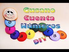 Gusano de colores cuenta Números hecho de Foamy, Goma eva, manualidades para niños - YouTube