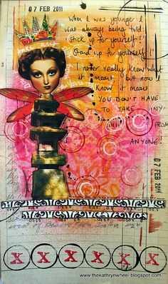 Art Journal - stick up for yourself   Flickr - Photo Sharing!     flickr by thekathrynwheel