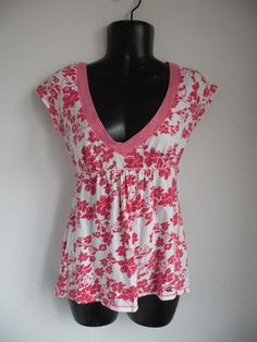 Free Stuff: HOLLISTER Top Baby Doll L Style Pink & White Floral CUTE - Listia.com Auctions for Free Stuff