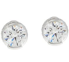 78a92d5f8 TOVA Diamonique 8.40 cttw Stud Earrings, Sterling Jewelry For Her, Qvc,  Jewelry Collection