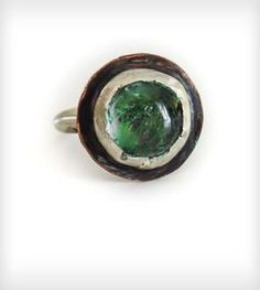 Large Oval Southern Moss Ring