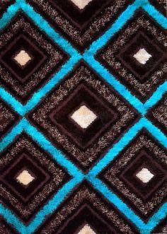 Blue Grey Brown Area Rug Carpet Flooring, Blue Area Rugs, Blue Rugs, Shaggy, Large Rugs, Brown And Grey, Blue Grey, Floor Rugs, Contemporary Design