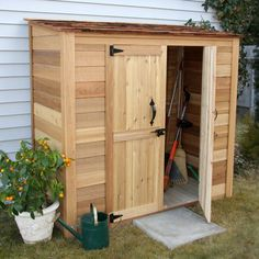 Outdoor Living Today Garden Chalet 6 Ft. W x 3 Ft. D Wood Lean-To Shed & Reviews | Wayfair