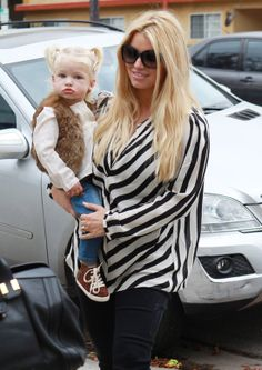 Jessica Simpson with little Maxwell