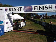 Morgan Hill Marathon Finish line.