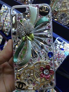 Swarovski crystal case. Chanel Flower, diamonds cover for iPhone-5…