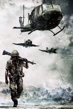 The end of the Vietnam War occur in Bringing an end to a very deadly and long war. The US failed to stop communism in Vietnam. Military Drawings, Military Tattoos, Military Art, Military History, Military Soldier, Military Life, Trash Polka Style, War Tattoo, Creation Art