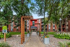 A beautiful walkway to your home inspire and relaxes. Here at Apartment Homes in does just that!
