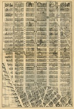 Image detail for -... River to River | Map of Midtown Manhattan down to Greenwich Village