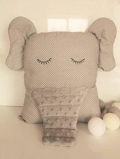 Elephant Shaped Pillow Cute Pillow Grey Pillow Big Handmade