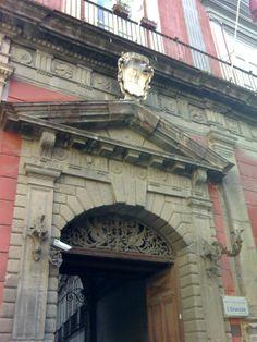 Palazzo Saluzzo di Corigliano, Napoli, Italy; built at the beginning of XVI c.; designed by Giovanni Francesco Donadio called 'Mormanno' (1449-1530). Portal detail.