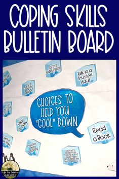 Coping Skills Bulletin Board Coping Skills Bulletin Board,Inspirational Bulletin Boards Use this coping skill bulletin board in your school counseling or social work office to help students identify and remember coping strategies Related posts:Emotions. Social Work Offices, School Social Work, School Office, School Life, Counselor Office, School Counseling, Elementary Counseling, Yoga Fitness, Inspirational Bulletin Boards