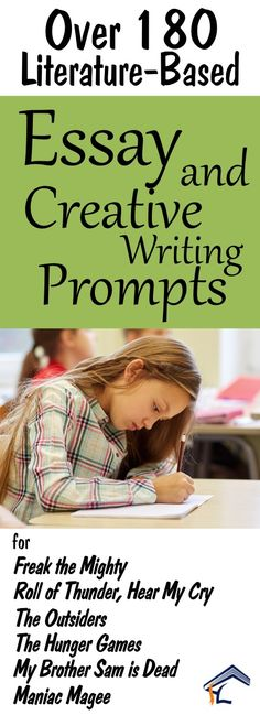 180 Essay and Creative Writing Prompts and Projects for popular grade 5-8 titles!