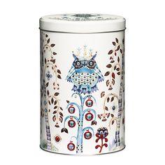 Taika tin jar 128x195 mm, white, by Iittala.