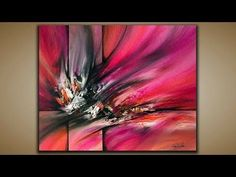 Abstract painting / How to paint abstract in Easy Way for beginners / Demonstration - YouTube