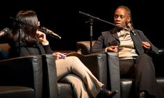 First Lady Chirlane McCray discusses her daughter's depression in conversation with WNYC's Cindy Rodriguez at the Schomburg Center for Research in Black Culture.