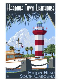 Hilton Head, South Carolina - Harbour Town Lighthouse Prints at AllPosters.com